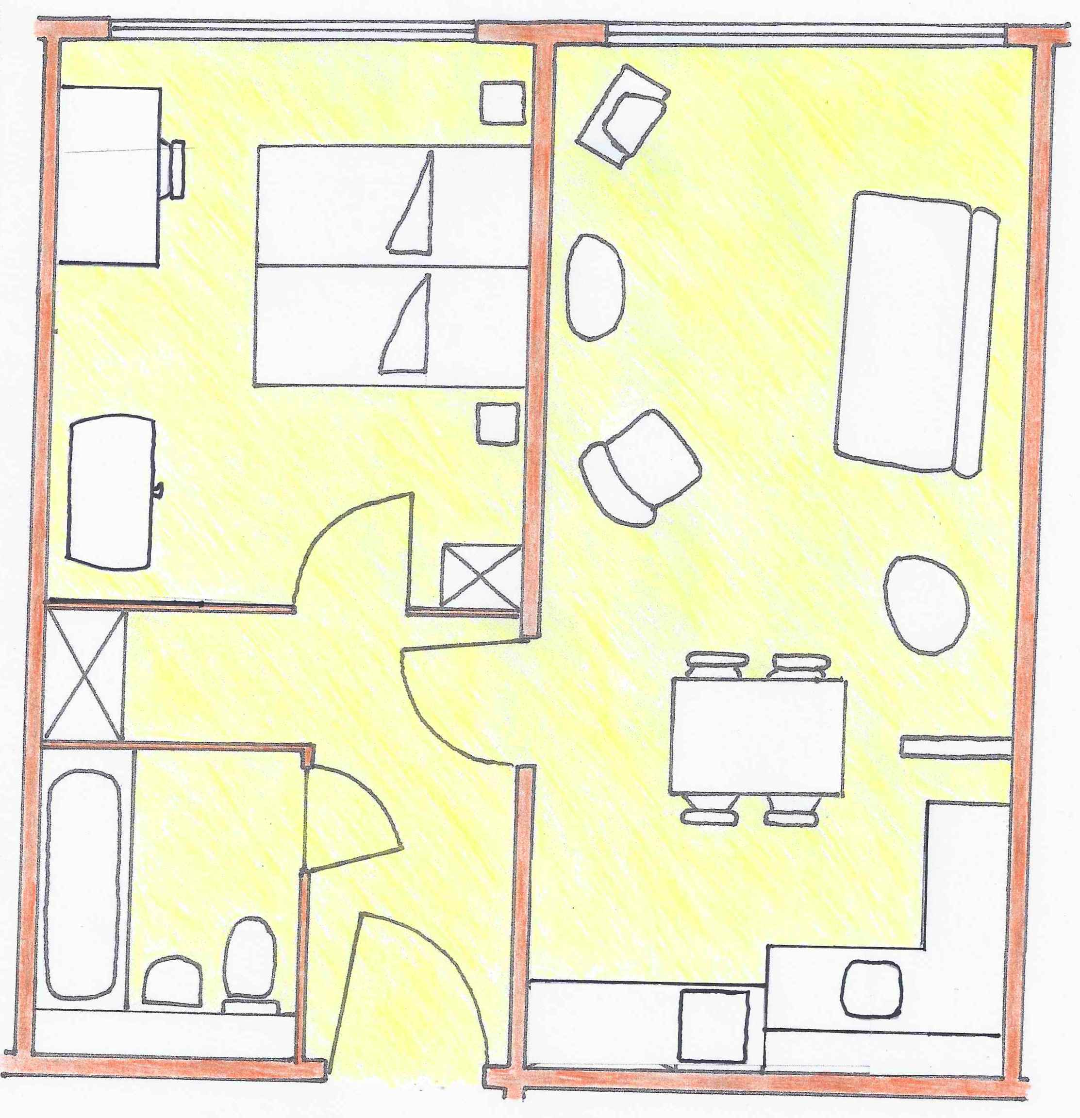Berlin holiday apartment ground-plan